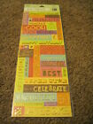 Scrapbooking Crafts Stickers KCO 13 Party Sayings Awesome Surprise Hooray Wow