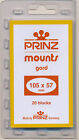 Prinz Scott Stamp Mount 105 57 CLEAR Background Pack of 20