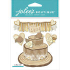 Scrapbooking Crafts Jolees Stickers Gold Wedding Cake Love Banner Hearts Roses