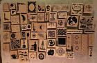 Lot of 58 Wood Mounted Rubber Stamps CLUB SCRAP All New Wide Assortment