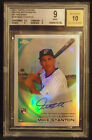 Mike Stanton 2010 Topps Chrome ROOKIE Autographs REFRACTOR RC BGS 9 10 AUTO 499