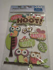 Scrapbooking Card Making Stickers 3D Owls Hoot Sayings Large Pack Nice