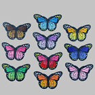 10 x DIY Embroidery Butterfly Sew On Patch Badge Embroidered Fabric Applique