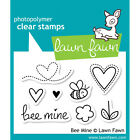 Scrapbooking Crafts Lawn Fawn Bee Mine Clear Stamp Set Mine Hearts Flowers 8