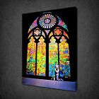 BANKSY STAINED GLASS PRAYER GRAFFITI CANVAS PRINT STREET ART PICTURE FREE UK PP