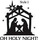 Nativity Oh Holy Night Christmas Decal sticker for 8 glass block shadow box