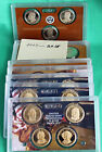2007 thru 2016 Presidential Dollar Proof 1 COIN SETS in Holder 39 Coins No Box