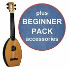 FLEA Ukulele NATURAL concert + DENIM Bag + BEGINNER Pack