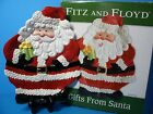 Fitz and Floyd Gift From Santa Canape Plate. Brand New! Santa Claus Plate!