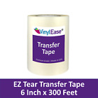 6 in x 300 ft Roll of Clear TEAR AWAY Transfer Tape for Sign Craft Vinyl V0822
