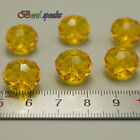 20 pcs Big 14mm Orange Yellow Faceted Rondelle Glass Crystal Beads CC428