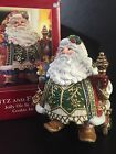 Extra Large Fitz & Floyd St Nick Christmas Holiday Santa Claus Cookie Jar IN BOX