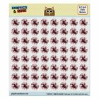 Hibiscus Tropical Hawaii Puffy Bubble Dome Scrapbooking Crafting Stickers