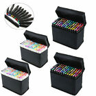 40 80 168pcs Color SET Alcohol Graphic Art Twin Tip Pen Marker Broad Fine Point
