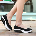 Womens Posh Mesh Breathable Wedges Spot Shake Casual Fitness Sport Shoes