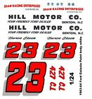#23 Buren Skeen Hill Motor Co. 1963 -1964 Ford Galaxie 1/24th 1/25th  Decals