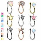 Nose Piercing Nose Ring Clip On Nose Clamp Ear Fake Stud Piercing Jewelry