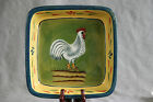 Provence Rooster Square Baking Dish Brownie Baker French Country Farm Baum Bros