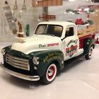 1 24 Franklin Mint Green White 1950 GMC Longbed Pickup 2000 Christmas Truck