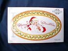 Fitz and Floyd 2008 VINTAGE SANTA Ceramic Oval Sentiment Tray MERRY CHRISTMAS 9