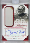 2014 Flawless Jerry Rice Ruby Greats On Card Auto Two Color Patch Encaesd #6 15