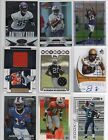 (9) NFL Game Used Jersey, Autograph, Rookie Football Card Lot RUSSELL WILSON RC
