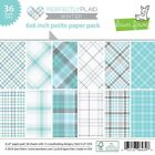 Lawn Fawn Double Sided Petite Paper Pack 6X6 LF1253 Perfectly Plaid Winter
