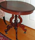 Antique Victorian Oval Walnut Parlor Table