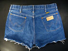 Wrangler Vintage CUTOFF JEANS SHORTS Cut Off W 32 MEASURED Hot Pant High Waisted
