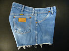 Wrangler Vintage CUTOFF JEANS SHORTS Cut Off W 33 MEASURED Hot Pant High Waisted