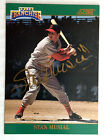 1992 SCORE 'THE FRANCHISE' STAN MUSIAL - Certified AUTO 0629 2000 !