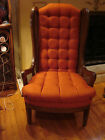 VINTAGE WINGBACK CHAIR w/ CANE SIDES - NEWLY RE-UPHOLSTERED!!