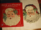 Fitz & Floyd Old Fashioned Christmas Santa Canape Plate- 2004 New