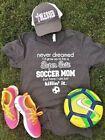 Soccer Mom Super Cute T Shirt Funny V Neck Tee all sizes + free gift