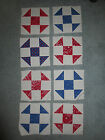 8 Cotton SHOO FLY PATCHWORK QUILT BLOCKS Approx 9 2 3 Square NEW