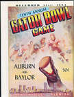 1954 Gator Bowl Program Auburn vs Baylor