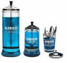 Barbicide Glass Jars Large Medium Small For Hospitals Salons Barbers