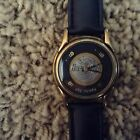 Hard Rock Hotel Las Vegas Black Leather Quartz Battery Watch
