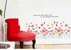 Flower Grass Butterfly Wall Removable Mural Decal Art home sticker room decor
