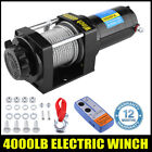 4000Lb 12V Electric Waterproof Winch Kit W/Remote Control for SUV UTV ATV Boat