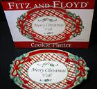 Merry Christmas Y'all Cookie Platter Fitz and Floyd 42-138 2011 Red Plaid Holly