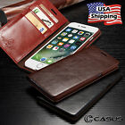 Genuine Leather SLIM Wallet Card Flip Stand Case Cover for iPhone 8 7 6 6S Plus