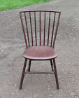 Antique Windsor Rod Back - Bird Cage Bamboo Turnings Chair Painted Brown