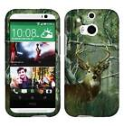 Camo Deer Conifer Tuff For HTC One M8 Cover Case Snap on Protector