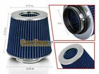 3 Cold Air Intake Dry Filter Universal BLUE For Geo Prizm Spectrum storm