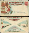 1906 NJ, WHITE MOUNTAIN FREEZER CO, ICICLES GIRL & CAT Illustrated Advert Cover!