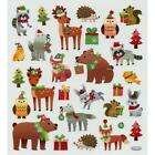 Scrapbooking Crafts Stickers Christmas Animals Bear Birds Fox Deer Hats Trees