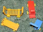 VINTAGE Lot of 4, 1950's Marx Freight Terminal Wheeled Carts