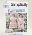 Simplicity Daisy Kingdom Sz BB 5,6,7,8 Sewing Pattern 7029 Child Dress Pinafore