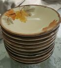 Franciscan October Set of 10 Coupe Cereal Bowls Autumn Leaves USA EUC